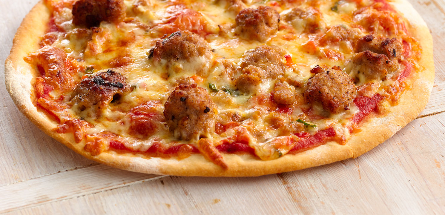 Image result for sausage pizza